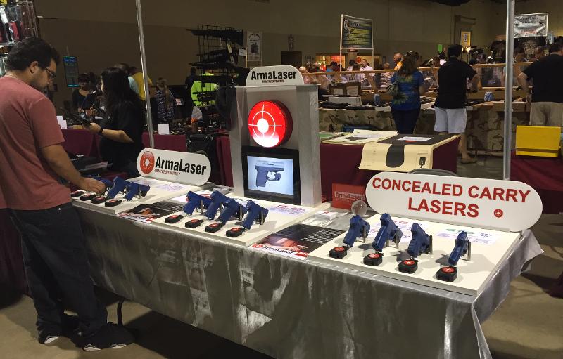ArmaLaser Gun Show Booth