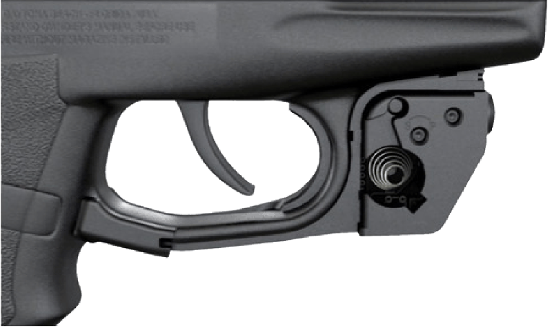 Up close view of custom fit for your pistol